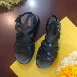Dansko Leather Strap Buckle Sandals